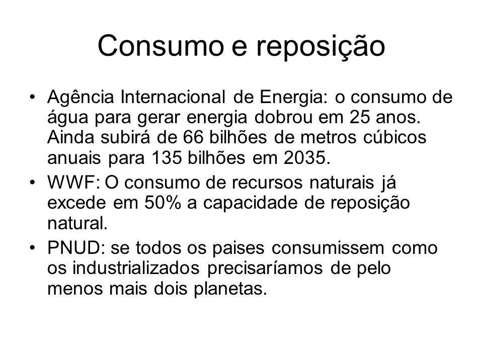Consumo e reposição