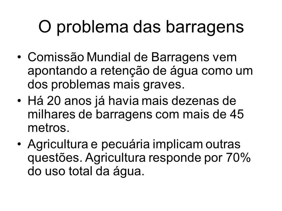 O problema das barragens