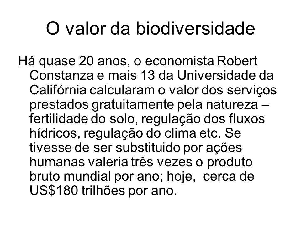 O valor da biodiversidade