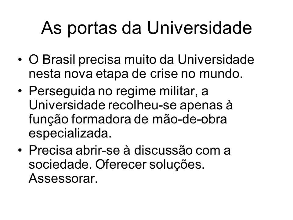 As portas da Universidade