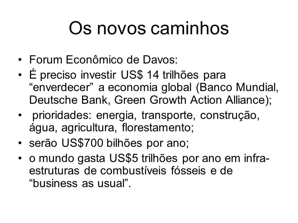 Os novos caminhos Forum Econômico de Davos: