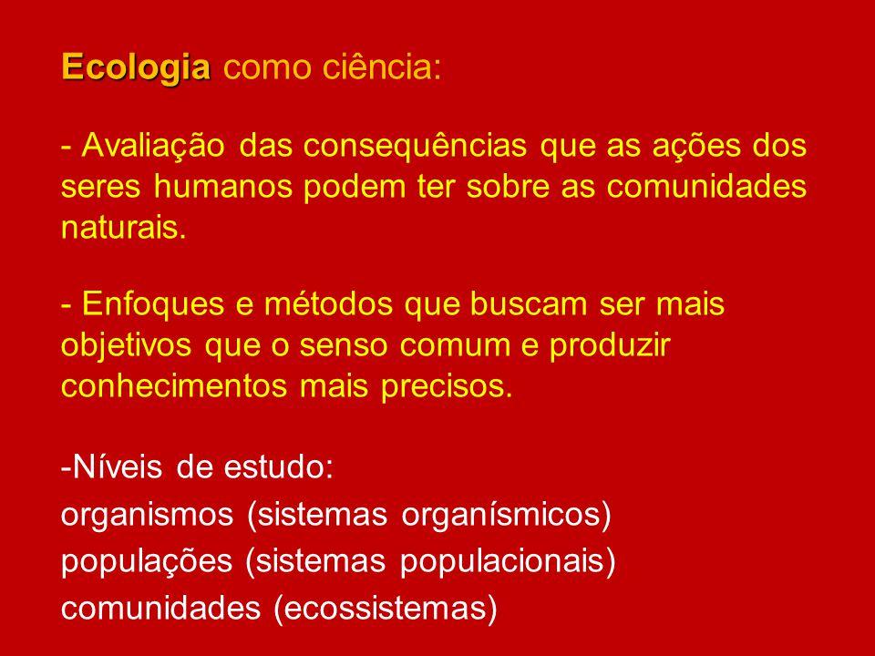 Ecologia como ciência:
