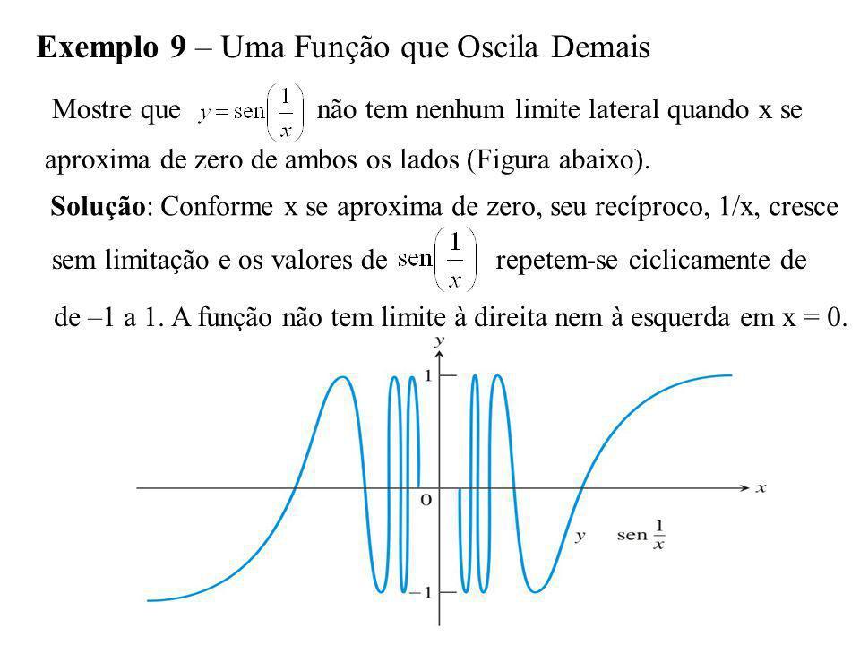 Exemplo 9 – Uma Função que Oscila Demais