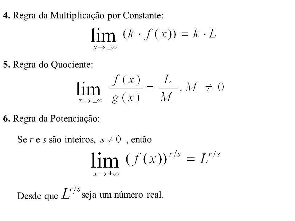 4. Regra da Multiplicação por Constante: