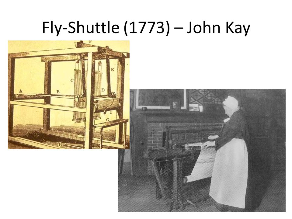 Fly-Shuttle (1773) – John Kay