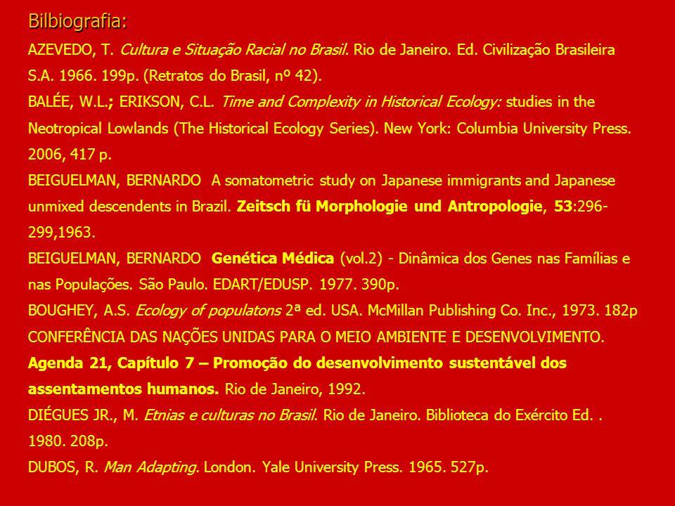 Bilbiografia: AZEVEDO, T. Cultura e Situação Racial no Brasil