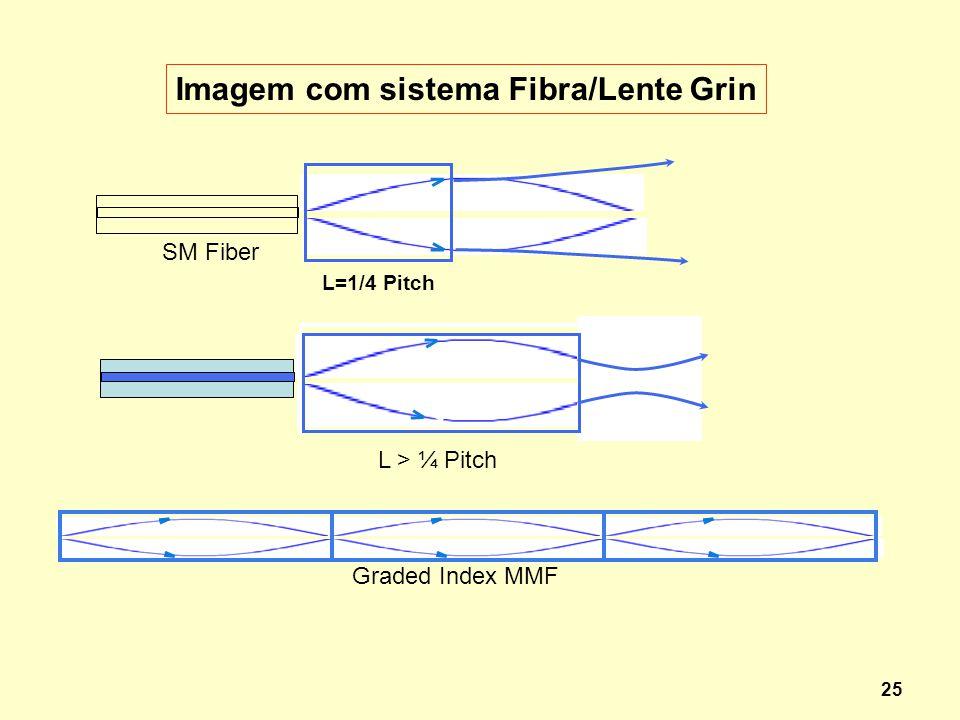 Imagem com sistema Fibra/Lente Grin