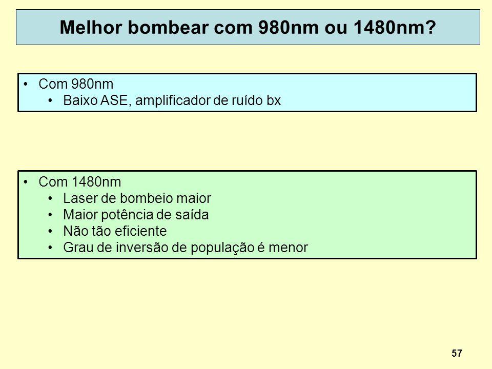 Melhor bombear com 980nm ou 1480nm