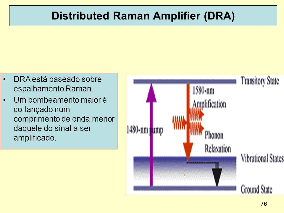 Distributed Raman Amplifier (DRA)