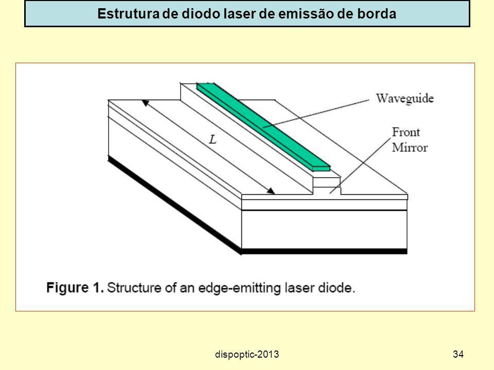 Estrutura de diodo laser de emissão de borda
