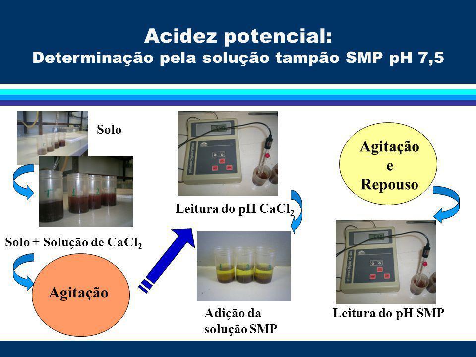 Determinação pela solução tampão SMP pH 7,5