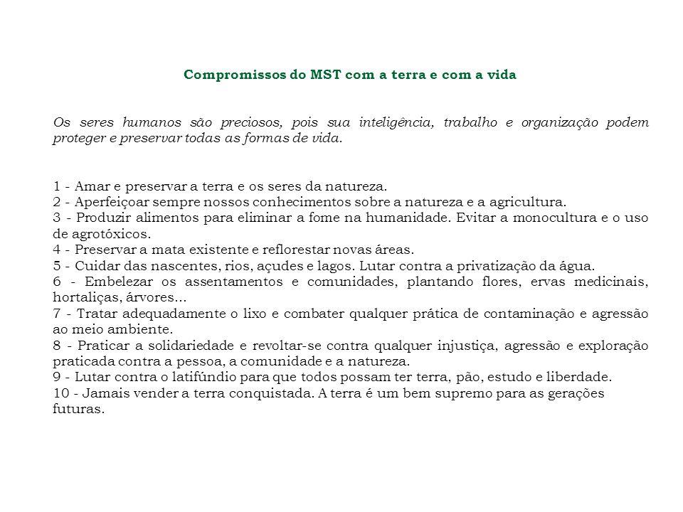 Compromissos do MST com a terra e com a vida