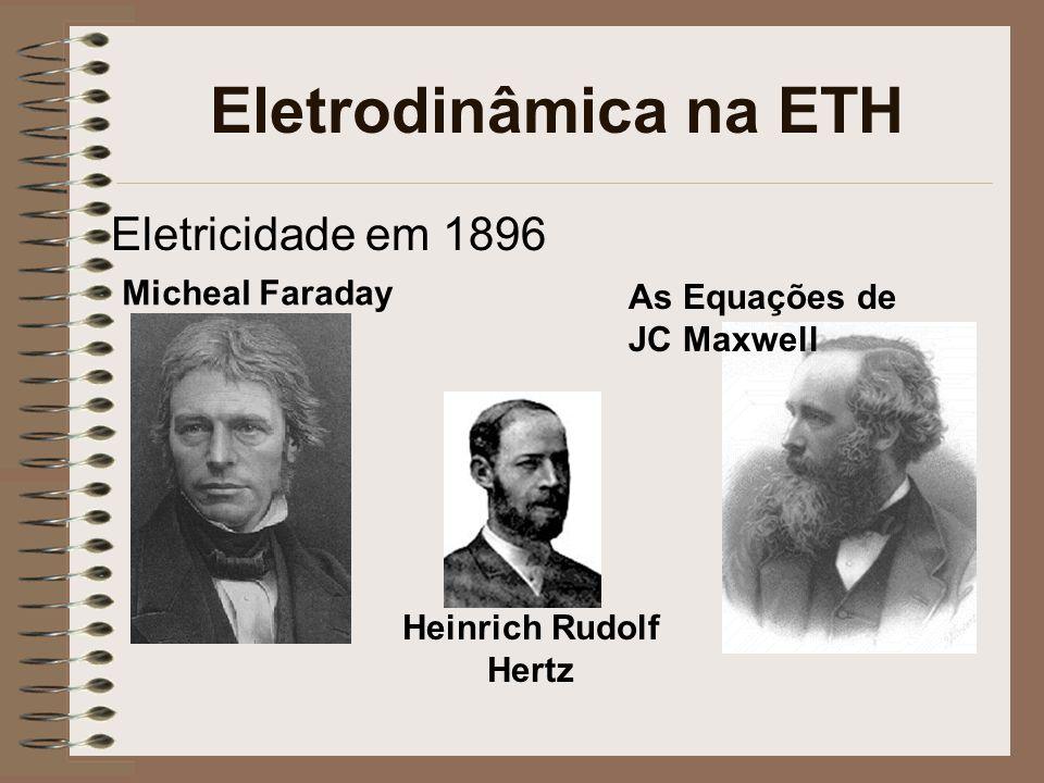 Eletrodinâmica na ETH Eletricidade em 1896 Micheal Faraday