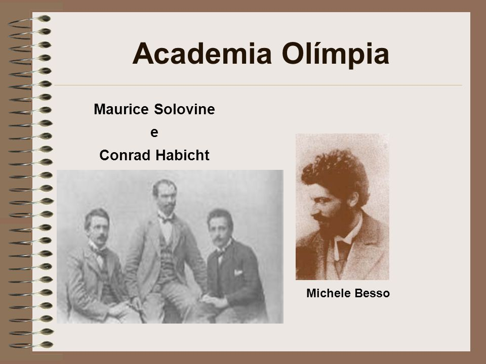 Academia Olímpia Maurice Solovine e Conrad Habicht Michele Besso