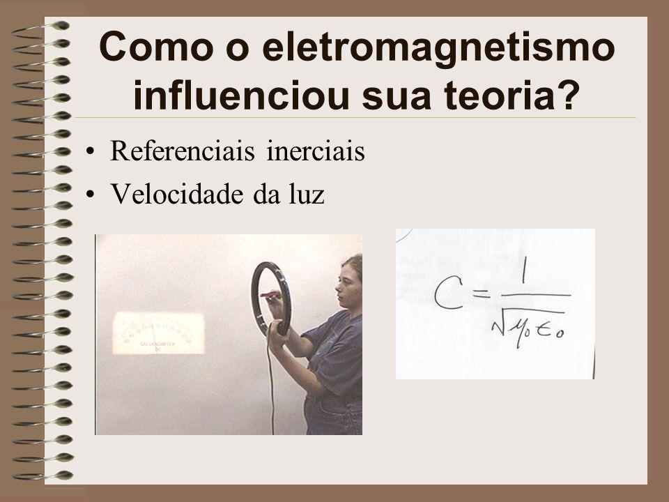 Como o eletromagnetismo influenciou sua teoria