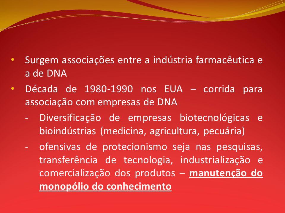 Surgem associações entre a indústria farmacêutica e a de DNA