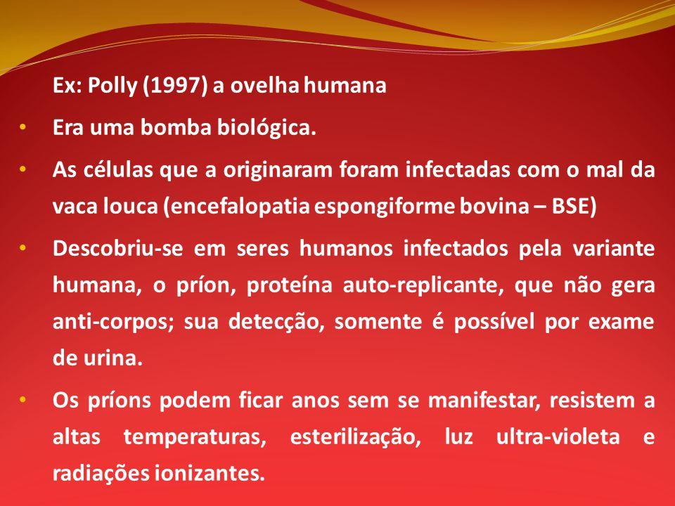 Ex: Polly (1997) a ovelha humana