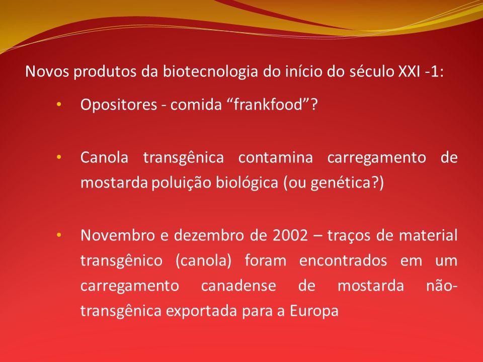 Novos produtos da biotecnologia do início do século XXI -1: