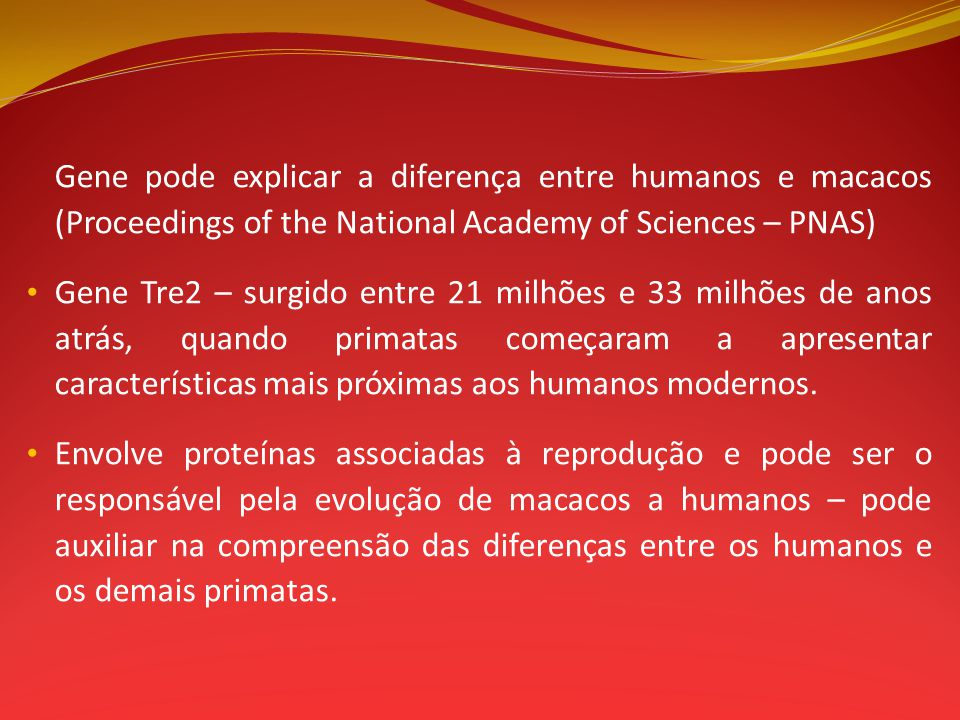 Gene pode explicar a diferença entre humanos e macacos (Proceedings of the National Academy of Sciences – PNAS)