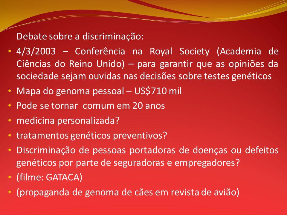 Debate sobre a discriminação:
