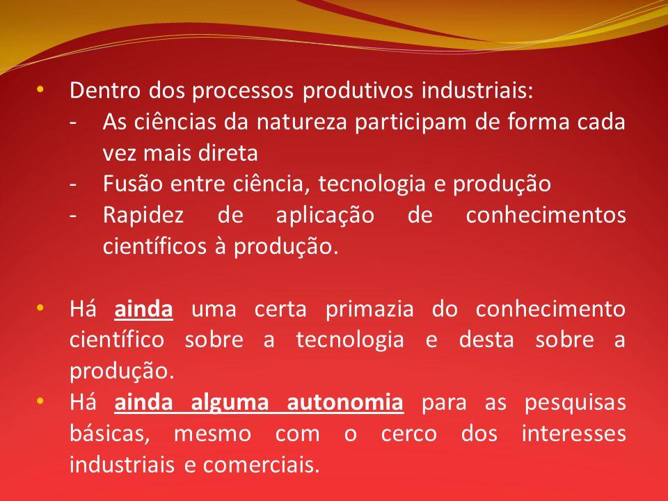 Dentro dos processos produtivos industriais: