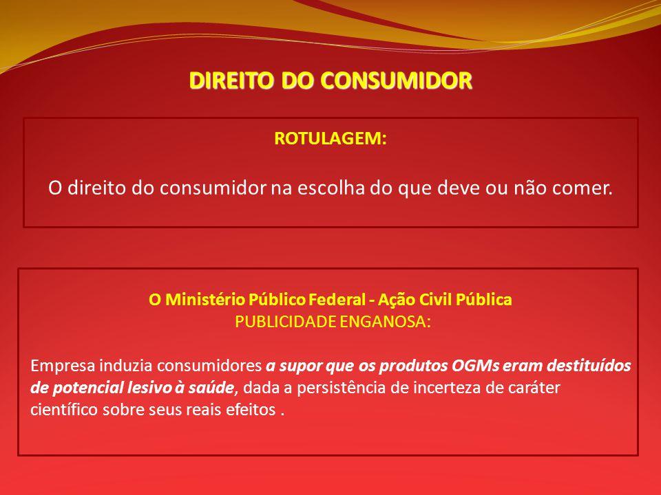 O Ministério Público Federal - Ação Civil Pública