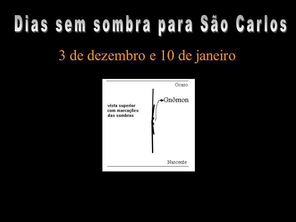 Dias sem sombra para São Carlos