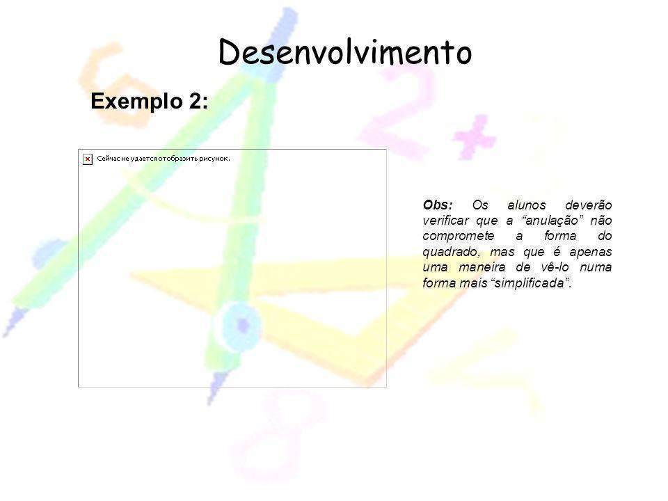 Desenvolvimento Exemplo 2: