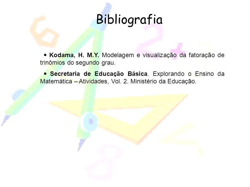 Bibliografia · Kodama, H. M.Y. Modelagem e visualização da fatoração de trinômios do segundo grau.