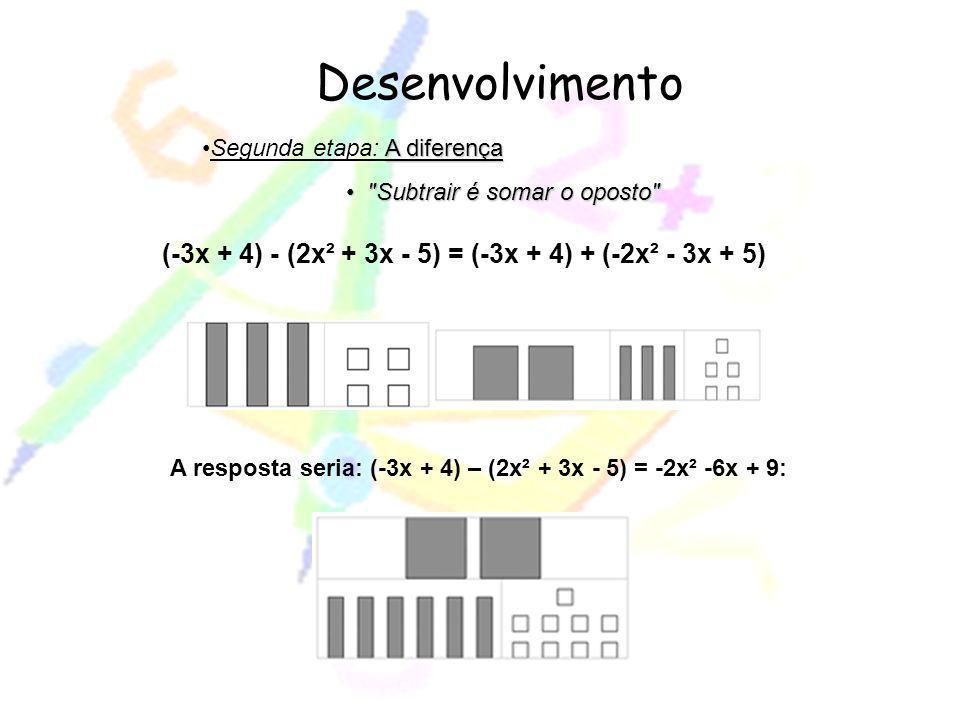 (-3x + 4) - (2x² + 3x - 5) = (-3x + 4) + (-2x² - 3x + 5)