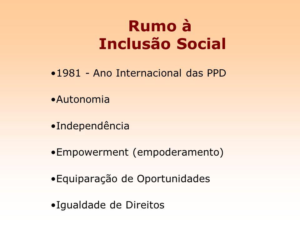 Rumo à Inclusão Social 1981 - Ano Internacional das PPD Autonomia