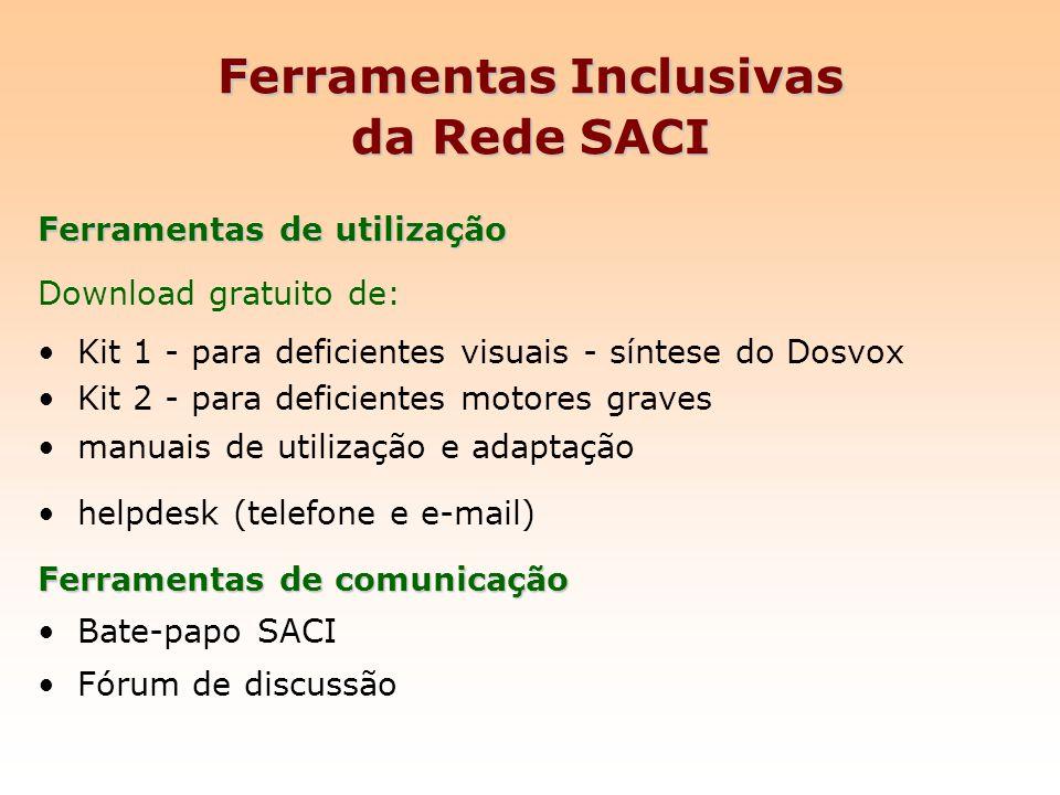 Ferramentas Inclusivas da Rede SACI