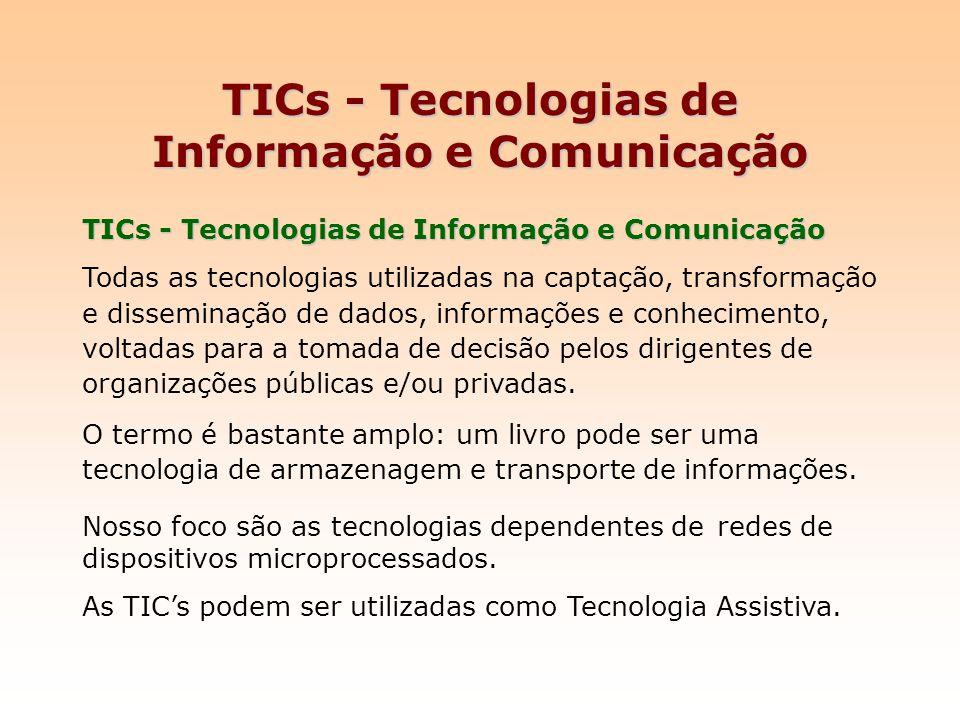 TICs - Tecnologias de Informação e Comunicação