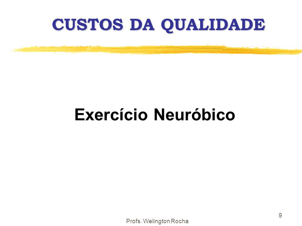 CUSTOS DA QUALIDADE Exercício Neuróbico Profs. Welington Rocha