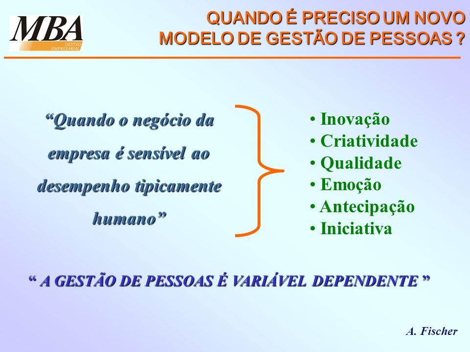 QUANDO É PRECISO UM NOVO MODELO DE GESTÃO DE PESSOAS