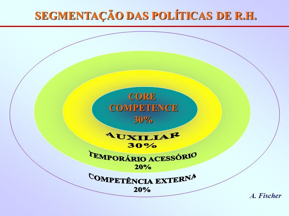 SEGMENTAÇÃO DAS POLÍTICAS DE R.H.