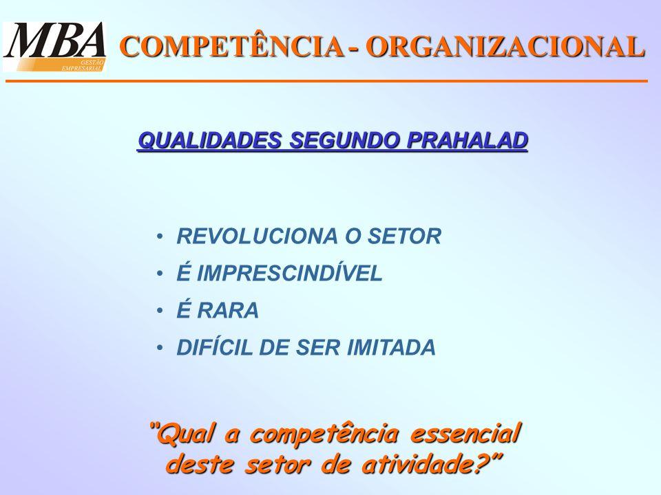 COMPETÊNCIA - ORGANIZACIONAL