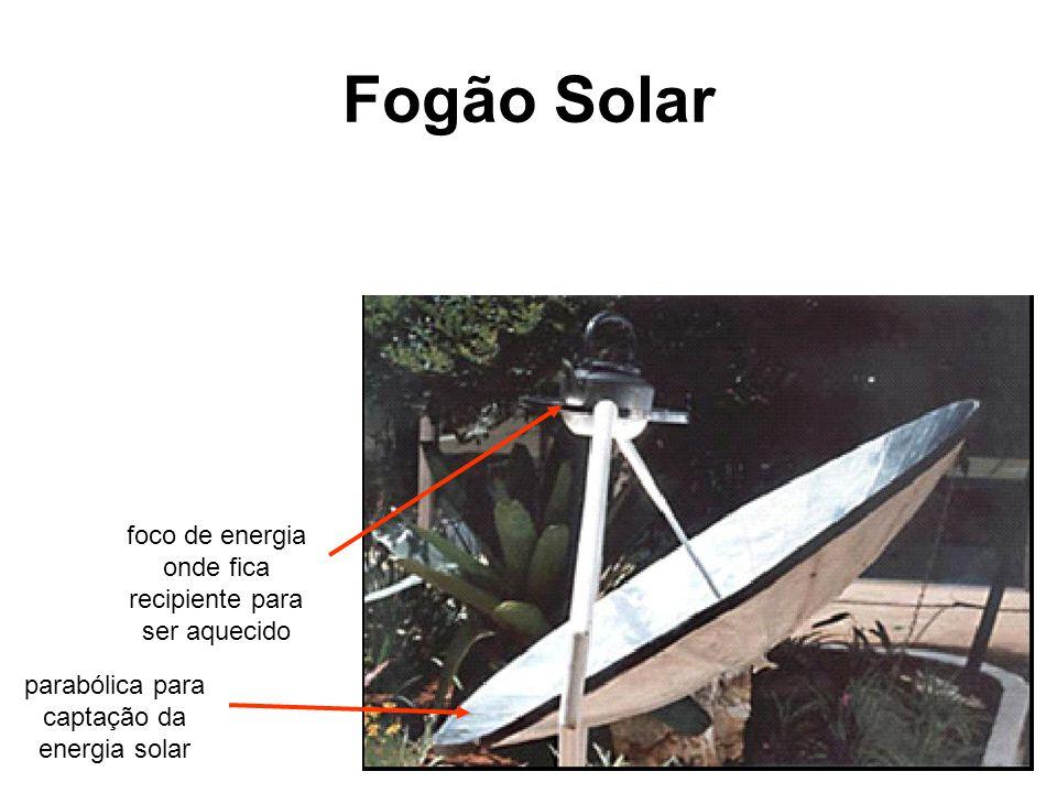 Fogão Solar foco de energia onde fica recipiente para ser aquecido