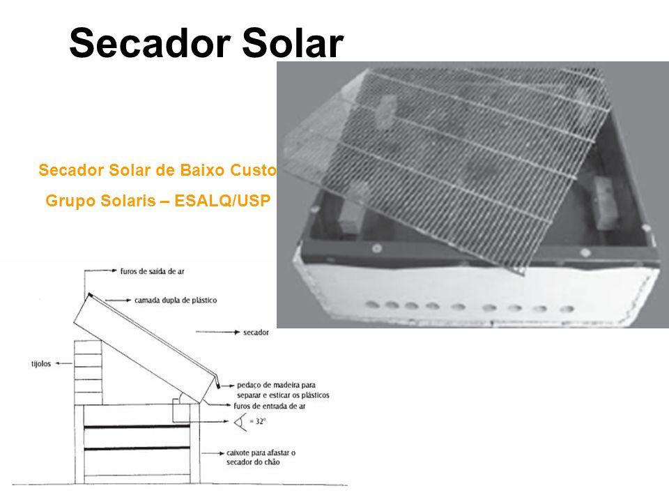 Secador Solar de Baixo Custo Grupo Solaris – ESALQ/USP