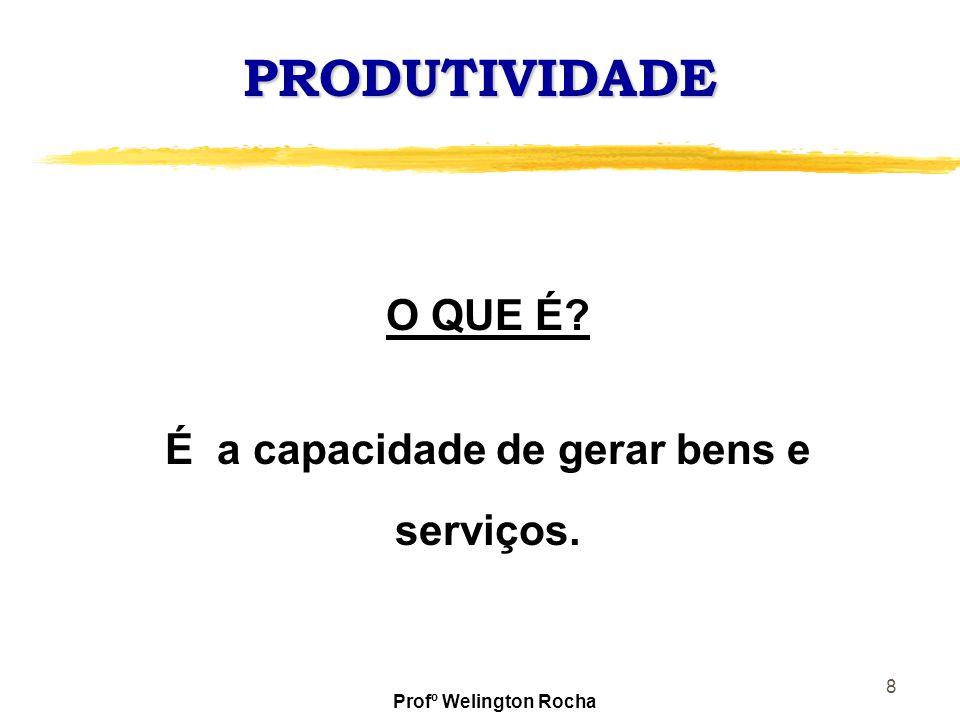 É a capacidade de gerar bens e serviços.