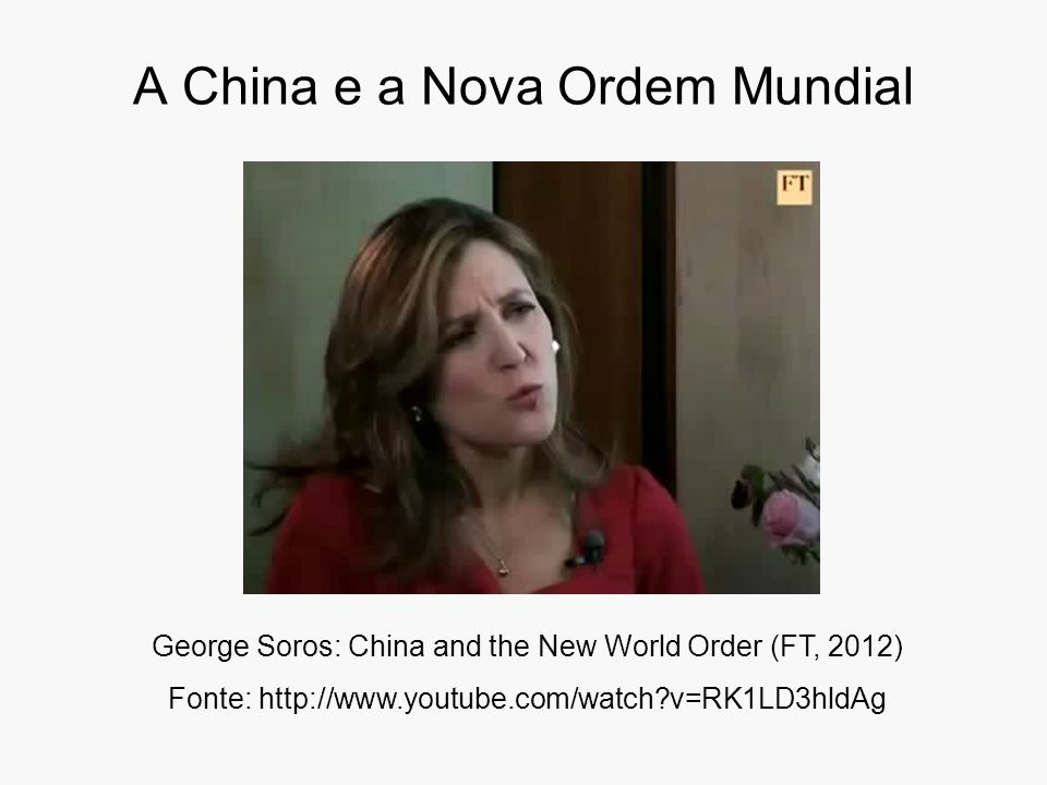 A China e a Nova Ordem Mundial