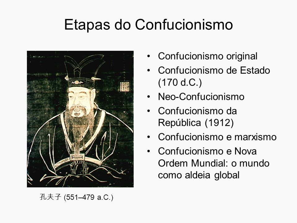 Etapas do Confucionismo