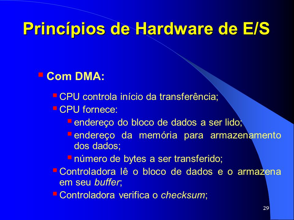 Princípios de Hardware de E/S