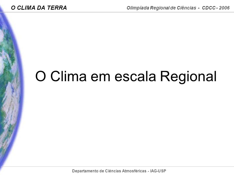 O Clima em escala Regional