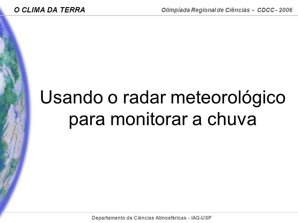 Usando o radar meteorológico para monitorar a chuva