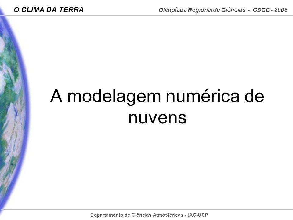 A modelagem numérica de nuvens