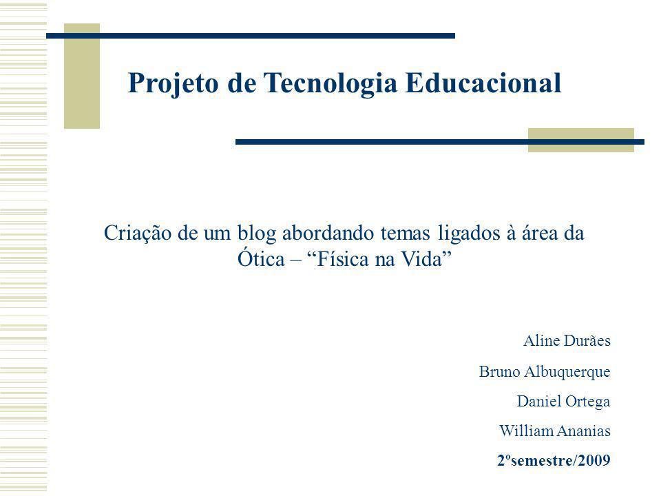 Projeto de Tecnologia Educacional