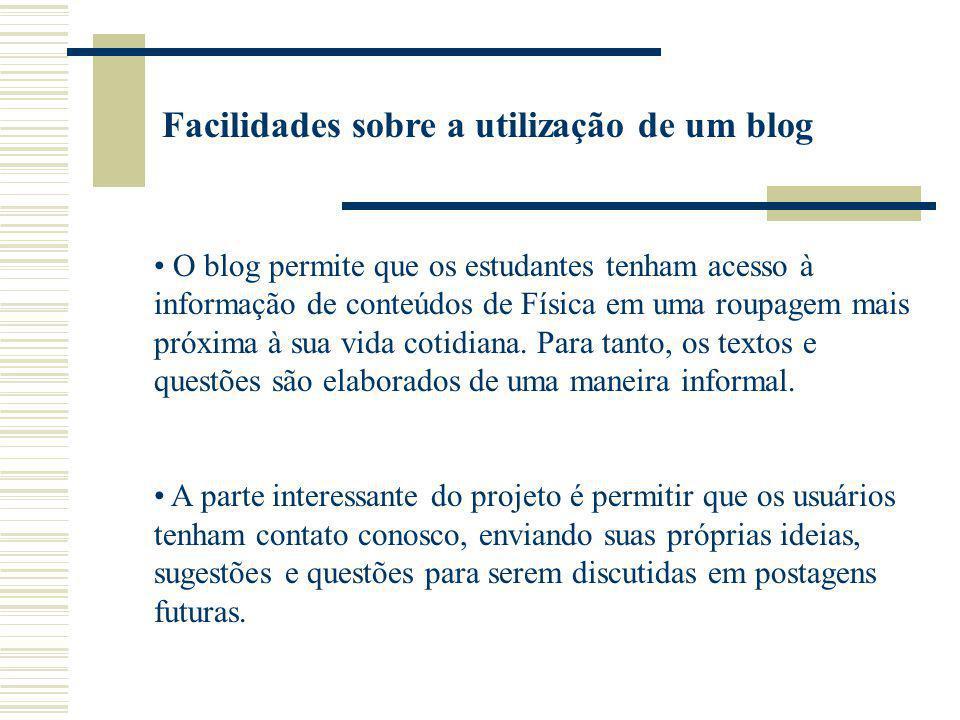 Facilidades sobre a utilização de um blog