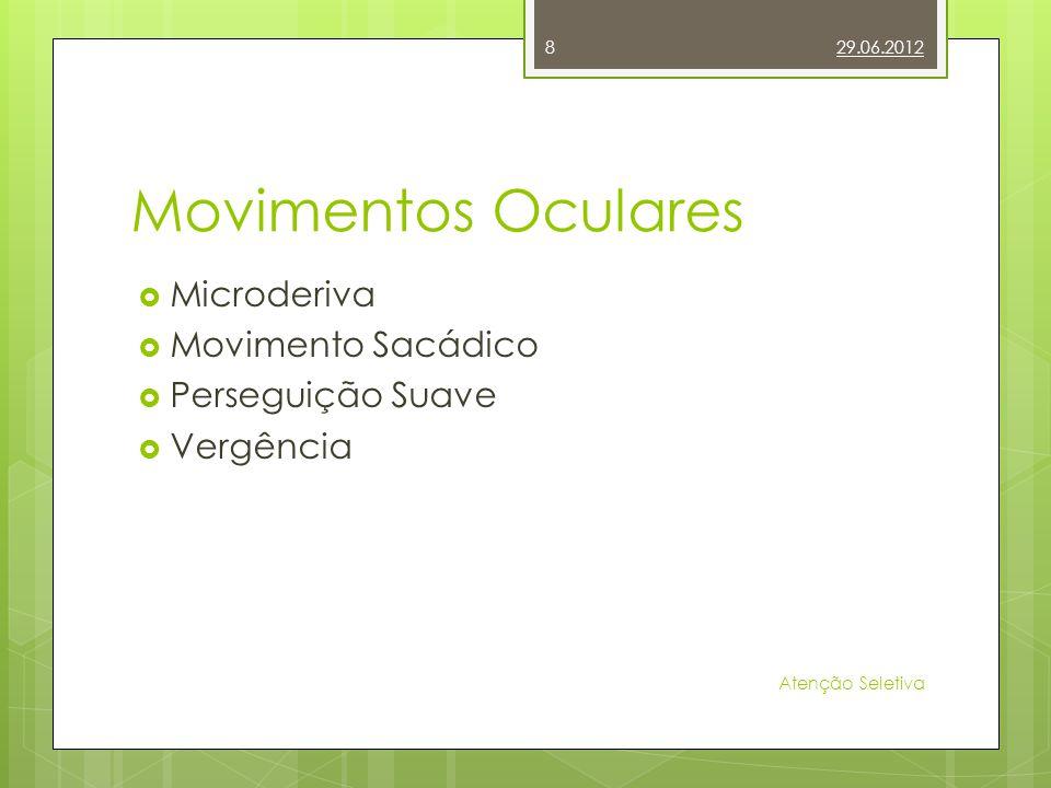 Movimentos Oculares Microderiva Movimento Sacádico Perseguição Suave