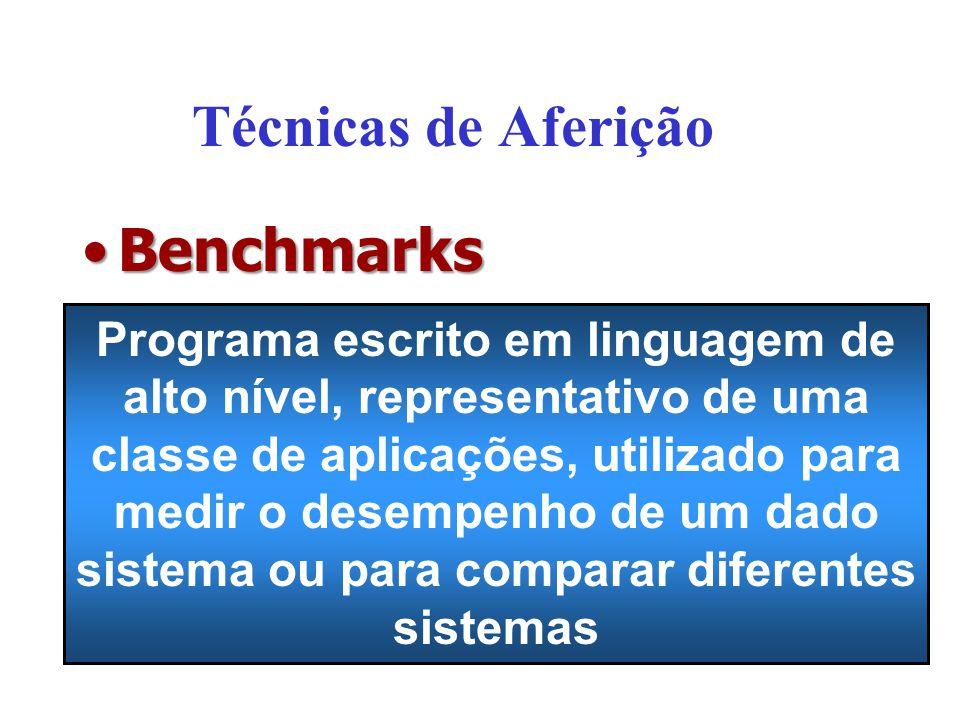 Técnicas de Aferição Benchmarks